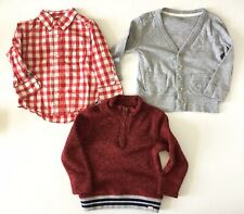 Gap Boys 2T Red Long Sleeve Winter Holiday Shirt Collar Lot