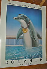 "Marine Artist Wyland 1984 LA Olympic Games Swim Team Posters SIGNED 20""x25"""