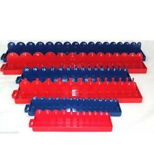 Professional Socket Trays 1/4 3/8 1/2 Drive SAE & METRIC  Tool Holders Trays