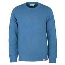 Carhartt WIP jersey de punto todos Sweater Prussian Blue señores manga