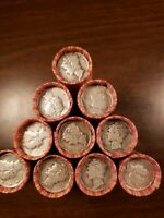 Wheat Cent Roll With Silver Mercury Dime And Indian Penny On Both Ends