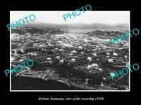 OLD LARGE HISTORIC PHOTO OF ZEEHAN TASMANIA AERIAL VIEW OF THE TOWN c1920