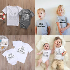 Little Big Brother Matching Clothes Kids Baby Boys Romper T Shirt Tops Outfits