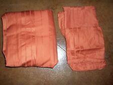 New Fieldcrest Classic Damask Stripe Burnt Orange King Duvet Cover & Shams 3pc