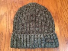 POLO RALPH LAUREN RIB-KNIT LAMBSWOOL-ALPACA BEANIE GREENISH BROWN CAP SKULLY HAT