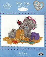 DMC TATTY TEDDY ME TO YOU ON HOLIDAY COUNTED CROSS STITCH KIT - NEW 2015