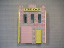 Fire Co 5 Vintage Fire Station Cardboard Model Diorama Railway Train Red Brick