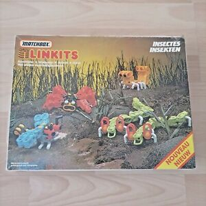 VINTAGE Matchbox Linkits Space Insects Set 1984 Building Kit 200+ Pieces HTF