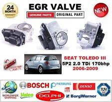 FOR SEAT TOLEDO III 5P2 2.0 TDi 2006-2009 Electric EGR VALVE 5-PIN OVAL PLUG