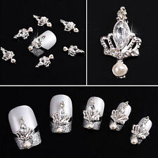 10pcs 3D Nail Art Alloy Rhinestones Crown Beads Glitters Stickers DIY Decoration