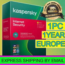Kaspersky Internet Security 2021 VOLL  1PC/DEVICE  1Jahr EXPRESS - EU-DE EUROPE