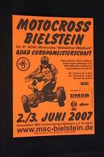 Card / Flyer ADAC-Motocross Bilestein / Quad Europameistershchaft 2007 (HW)