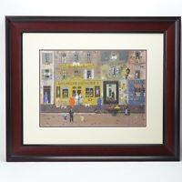 Michel Delacroix Boulangerie Patisserie Original Lithograph Signed & Framed