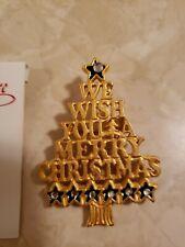 St. Nicholas Square Christmas Tree Pin We Wish You A Merry Christmas.