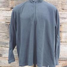 Royal Robbins Fleece Jacket Half Zip Pullover Black Men 2Xl Xxl