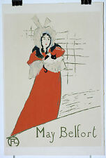 Toulouse Lautrec Lithographie ancienne May Belfort