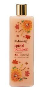 Bodycology Spiced Pumpkin Size 8oz & Body Wash & Bubble bath NEW