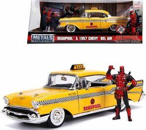 1:24 Deadpool w/ 1957 Chevy Bel Air Taxi -- Hollywood JADA