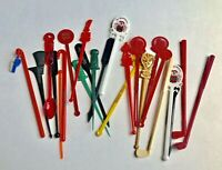 Vintage Swizzle Sticks Mixed Lot Stirrers Sticks Set Of 24 Bars Restaurants Old