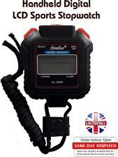 Stop Watch Timer Alarm Counter Digital Handheld Sports Stopwatch  UK Seller