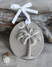 SOUTH CAROLINA Palmetto Tree Moon Made with Sand Beach Ornament