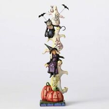 Jim Shore Heartwood Creek, Stacked Ghosts w/Witch and Cat