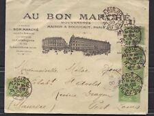 Lettre Cover paris  ile maurice 5 x 5 c Sage n°106 Cad arrivée Mauritus en 1900