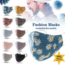 1/3/5 PCS Fashion Washable Reusable Breathable Mouth Face Mask Covers Protection