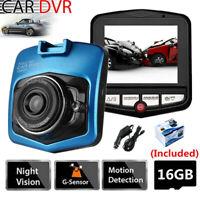 2.4'' Dash Cam 170° Car DVR Camera Video Camcorder Motion Detection With SD Card