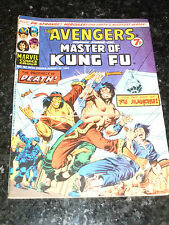 THE AVENGERS Staring SHANG-CHI Master of KUNG FU - No 50 - Date 31/08/1974