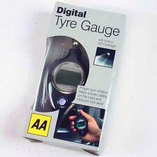 AA Digital Car Tyre Tire Gauge Air Pressure Tester Tool LED Light LCD Meter 1305
