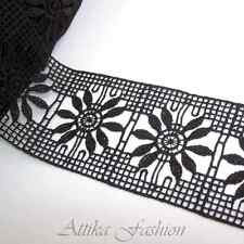 Classical Black French Crochet Designer Lace Trim *Per yard*