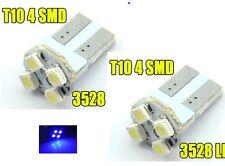 2 AMPOULE LED W5W A 4 LED SMD BLEU
