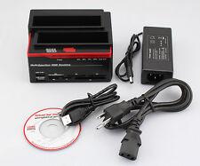 "2.5""/3.5"" 1 SATA 1 IDE HDD Dock Clone Docking Station USB HUB+card reader FT"