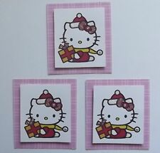 3 HELLO KITTY CHRISTMAS EMBELLISHMENT TOPPERS 4 CARDS