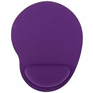 Dark purple mouse mat with wrist rest support