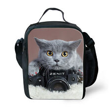 Teens Thermal Insulated Lunchbox Carry Tote Picnic Cooler Bag Kid Back to School