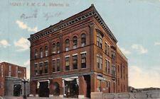 Waterloo Iowa~Office Supply Co in YMCA~Ameras Next Door~Postcard 1914