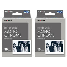 2 Packs 20 Instant Photos Monochrome FujiFilm Instax Wide Film Polaroid Camera