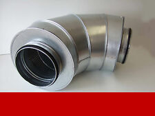Schalldämpfer Bogen Rohr Lüftung BSIL 160 mm mit Isolierung 50 mm