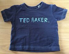 Baby Boys Navy Blue Ted Baker T-shirt Size 6 Months