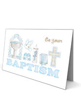 Baptism Greeting Card - for a Boy