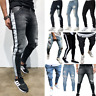 Men's Casual Denim Trousers Fashion Ripped Long Jeans Casual Frayed Daily Pants
