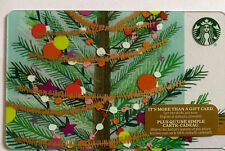 STARBUCKS GIFT CARD 2016 LIMITED HOLIDAY TREE NEW RARE RECHARGEABLE !