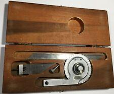"Starrett C359BZ Precision Universal Bevel Vernier Protractor, 7"" Blade, 0- 360º"