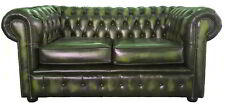 Green Leather Chesterfield 100 Two Seater Sofa 6 Months Old From Harrods iMac