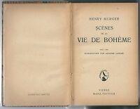 1920 SCENES DE LA VIE DE BOHEME Henry Murger Manz Editeur Vienne
