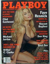 Playboy Magazine March 1997 Faye Resnick Clint Eastwood Michael Jordan Don King