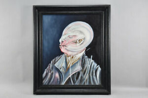 h20c28- Surrealistisches Gemälde, Porträt, 1987