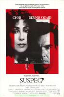 SUSPECT MOVIE POSTER Original Single Sided  Rolled 27x41 CHER DENNIS QUAID 1987